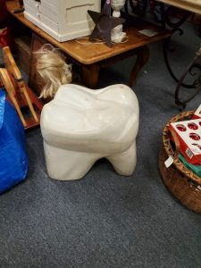 stool that looks like a tooth